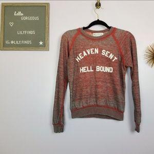 Wildfox Red Graphic Sweatshirt Size XS NWT
